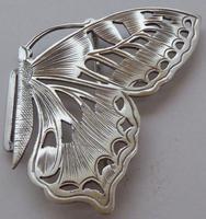 Rare Art Nouveau 1900 Hallmarked Silver Nurses Belt Buckle Butterfly Design (8 of 10)