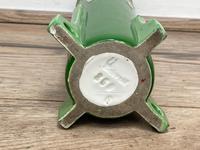 Original Art Nouveau Eichwald Pottery Green Glazed Rocket Flower Vase (20 of 23)