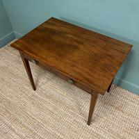 Fine Country Georgian Mahogany Antique Side / Writing Table (6 of 6)