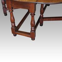 Large Antique Oak Gateleg Dining Table (13 of 13)
