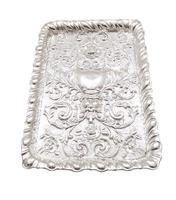 Antique Edwardian Sterling Silver Dressing Tray 1903 (4 of 7)