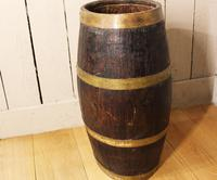 Georgian Oak Brandy Barrel. Stick Stand. Lamp Table (5 of 11)
