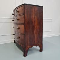 Flame Mahogany Antique Bowfront Chest c.1830 (8 of 8)