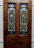 Victorian Art Nouveau Stained Glass Panel Door (8 of 9)