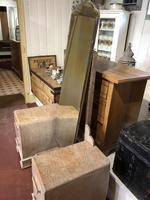Limed Oak Art Deco Dressing Table Vanity Stand (3 of 11)
