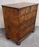 Reproduction Walnut Chest of Drawers In The Style of Queen Anne (3 of 10)