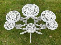 Victorian 19th Century Garden Cast Iron 6 Branch Plant Stand Coalbrookdale Style (8 of 27)