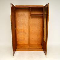 Art Deco Figured Walnut Wardrobe Vintage 1930's (3 of 10)