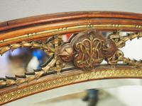 Gilded Walnut Oval Overmantel Mirror (10 of 11)