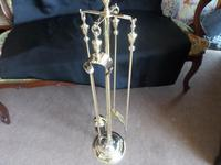 Very Nice Brass Fireside Set of Tools on Stand. Edwardian (5 of 6)