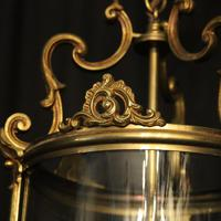 French Gilded Triple Light Convex Hall Lantern (9 of 10)