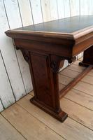 Leather Top Library Table (4 of 9)