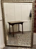 Large 20th Century Arts & Crafts Style Pewter Finish Wall Mirror (4 of 8)