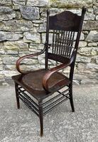 Antique American Armchair with Steamed Bentwood Arms (9 of 14)