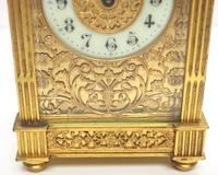 Fantastic French 8-day Fleur De Lis Decorated Panel 8-day Carriage Clock Timepiece c1890 (5 of 10)