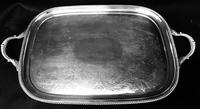 Large Silver Plated Butlers Tray by Barker & Ellis (5 of 9)