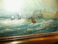 Oil on Canvas 'Storm off Whitby' by Fielding (6 of 6)