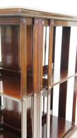 Good quality,  Edwardian inlaid Walnut 2 tier revolving bookcase (3 of 21)