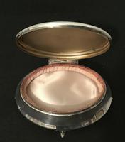 Lovely Large Edwardian Silver Oval Jewellery  Box. (2 of 5)