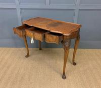 Serpentine Fronted Queen Anne Style Burr Walnut Side Table (6 of 16)