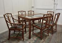 Regency Style Simulated Bamboo Conservatory Table & 6 Chairs (3 of 7)
