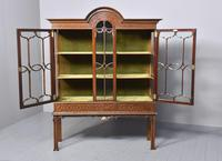 Antique Chinese Chippendale Mahogany Display Cabinet (8 of 13)