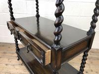Antique Oak Three Tier Sideboard (10 of 12)