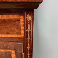 Exceptional Inlaid Victorian Antique Glazed Bookcase by Edwards and Roberts (6 of 10)