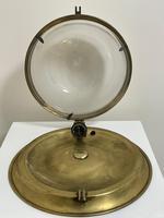 Art Deco Round Domed Glass Brass Ceiling Pendant Light (11 of 30)