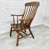 Large Windsor Lathback 'Grandfather' Armchair (3 of 5)