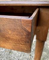 18th Century Georgian Oak Pad Foot Side Table (2 of 15)