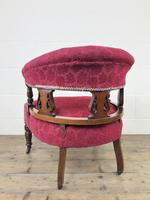 Pair of Victorian Mahogany Upholstered Tub Chairs (15 of 15)