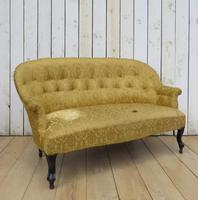 Antique French Button Back Sofa for Re-upholstery