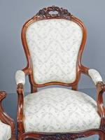 Antique Pair of French Rosewood Armchairs (6 of 19)