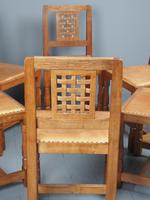 Mouseman Oak Dining Table & Set of 6 Chairs (4 of 20)