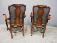 Pair of Queen Anne Style Walnut Armchairs (6 of 17)