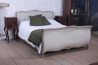 Newly Upholstered King Size French Bed