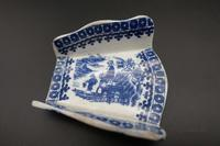 Rare Set of 6 Late 18th Century Blue & White Asparagus Rests (5 of 5)