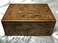 Fine Antique Mid Victorian 19th Century Tunbridge Sewing Workbox Parquetry Inlaid (11 of 12)