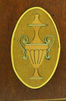 Edwardian Tulip shaped 8-Day Mantel Clock English Mahogany Inlaid Striking Mantle Clock Magnificent Size (2 of 11)