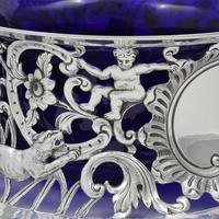 Large Victorian Irish Silver Dish 'Potato' Ring Wakely & Wheeler Wild Animals (14 of 18)