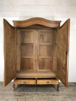 Large Pale Oak Armoire Wardrobe – Knock Down Flat Pack (4 of 17)