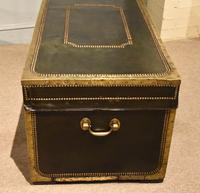 19th Century Camphor Leather Travelling Trunk (5 of 7)