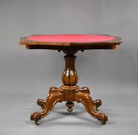 Victorian Burr Walnut Card / Games Table (7 of 9)