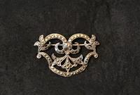Silver and Marcasite Vintage Brooch (3 of 5)
