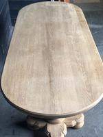 Bleached Oak Farmhouse Dining Table (6 of 12)