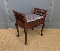 Late Victorian Mahogany Piano Stool