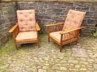 Pair of Arts & Crafts Reclining Chairs (5 of 12)