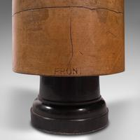 Antique Milliner's Hat Block, English, Beech, Shop Display Stand, Edwardian (9 of 12)