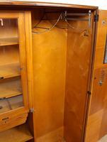 Compactum Oak Wardrobe Antique Vintage Gents Armoire (8 of 14)